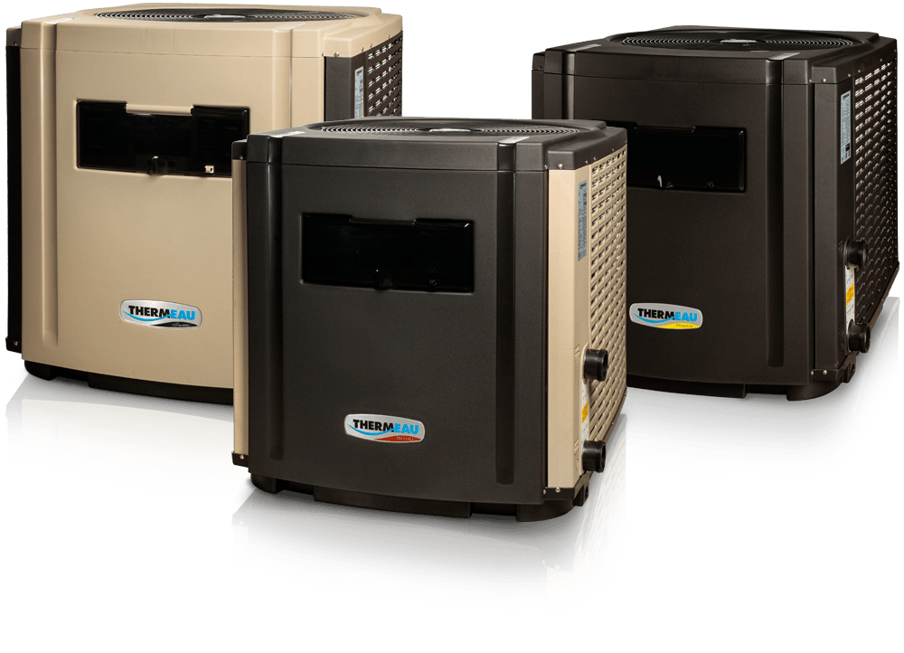 3 models Thermeau pool heat pump