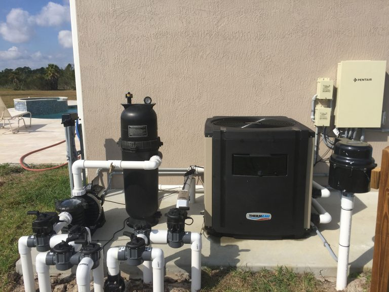 Installed Thermeau Pool Heat Pump